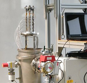 thermal contact conductivity test setup